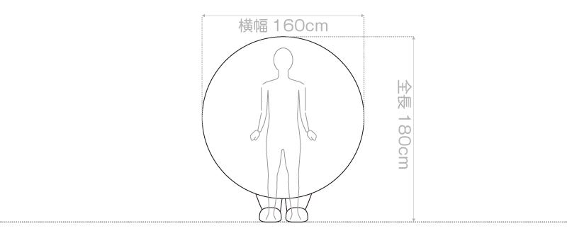 着ぐるみサイズの説明図面